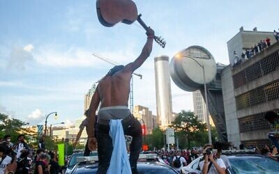 Violence erupted in Atlanta during Black Lives Matters protests.