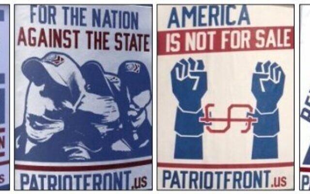 Examples of white supremacist propaganda.
