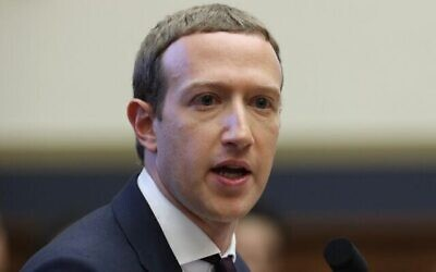 Facebook co-founder and CEO Mark Zuckerberg testifies before the House Financial Services Committee in the Rayburn House Office Building on Capitol Hill, October 23, 2019. (Chip Somodevilla/Getty Images/AFP)
