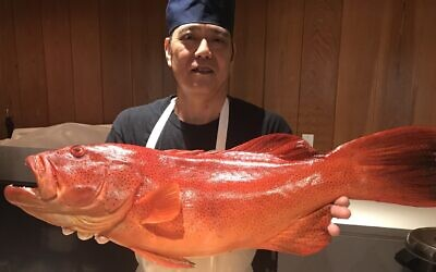 Chef Nakato flies in fresh fish daily, which the chefs cut for sashimi and sushi.