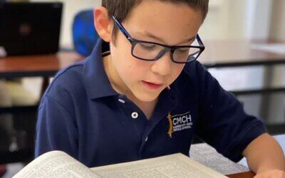 Motti Levin studies Talmud.