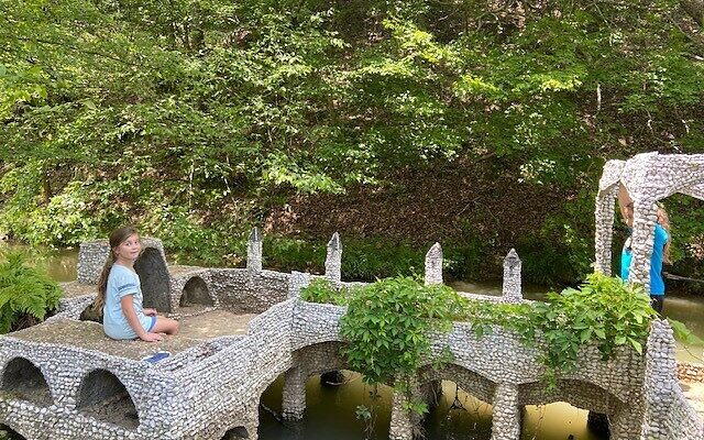 Visiting The Rock Garden in Calhoun, Ga., was a day trip for the Schapiro sisters and their mom.