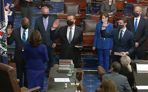 New state Sens. Raphael Warnock and Jon Ossoff were sworn into office last week.