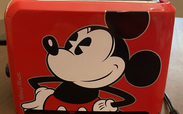 Solomon has a fully functioning Mickey-themed toaster.