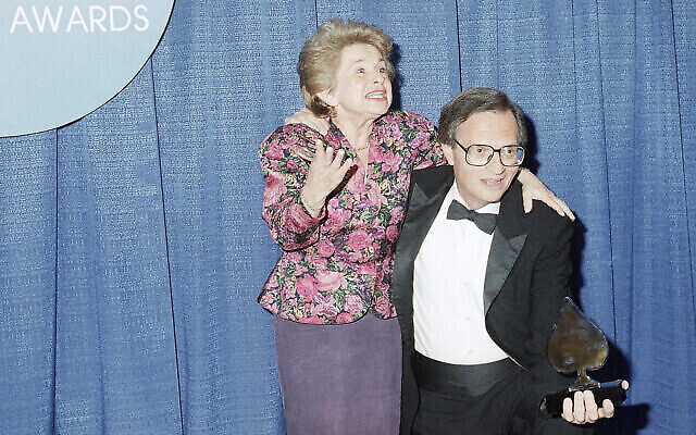 Dr. Ruth Westheimer poses with CNN's Larry King backstage at the Wiltern Theatre in Los Angeles, Sunday, Jan. 25, 1988. (AP Photo/Joan Adlin)