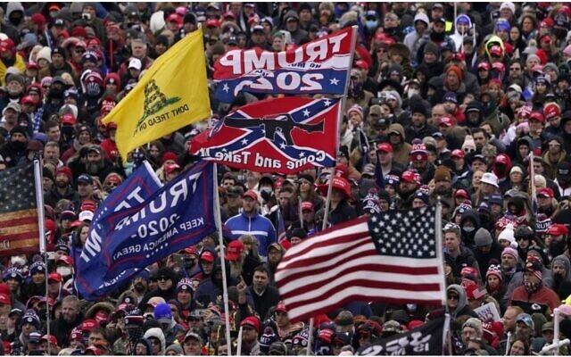 Protestors at the rally, Jan. 6, 2021, in Washington.