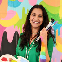 Artist and childhood educator Sugandha Rosenhaft owns La Dee Da studio.