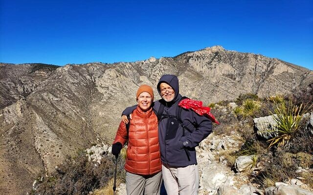The Shaws atop the Guadalupe Mountains National Park in Texas.