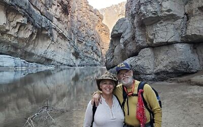 The Shaws at the Santa Elena Canyon in Big Bend National Park in Texas.