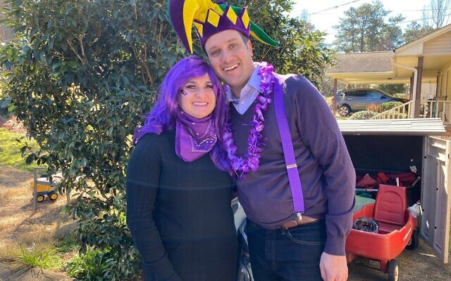Sari and Josh Joel were Color War captains for Team Purple.