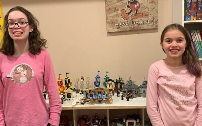 Elizabeth (left) and Alexis (right) Boyd's faves are Harry Potter's Great Hall and Disney Princess Lego sets.
