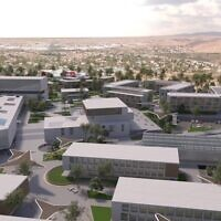 An artist rendering of the $350 million World Zionist Village to be developed in Israel's Negev city of Beersheva.  Photo by JNF-USA