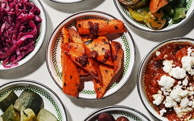 Photo by Angie Webb //  Mezze: Colorful exotic mix and match