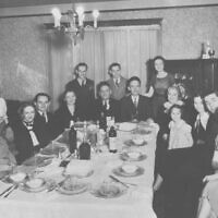 Passover seder at Joseph Schaffer home at 236 Atlanta Avenue in 1935.