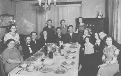 Passover seder at Joseph Schaffer home at 236 Atlanta Avenue in 1935.