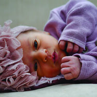 Lyla Rose was peaceful in her stylish headband.