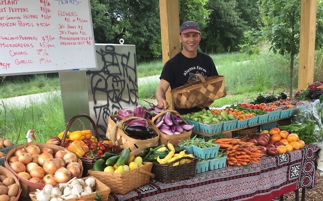 Andy Friedberg, at the Aluma Farm stand.
