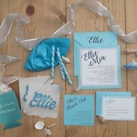 Paper Matters took care of designing all the components needed to celebrate a bat mitzvah with a beach theme.