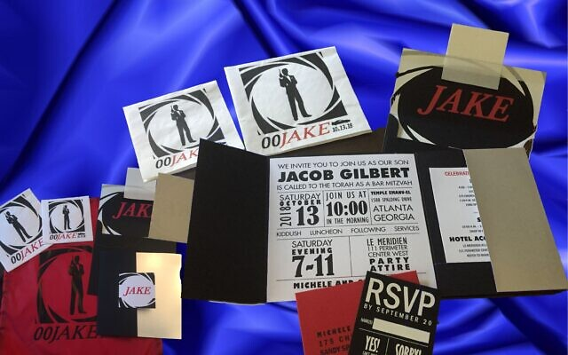 Using a theme of James Bond, Paper Matters created a bar mitzvah invitation.