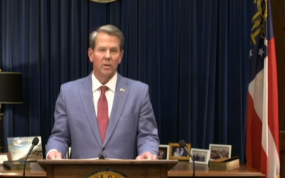 """Gov. Brian Kemp said, """"By making it easy to vote and hard to cheat, we can ensure Georgia's elections are safe, accessible, and fair!"""""""