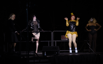 """Photo by Nathan Posner // """"The Rocky Horror Picture Show"""" performance is staged for the celebration."""