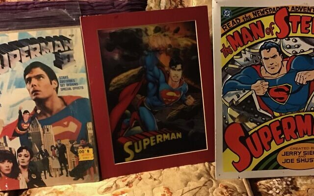 """A favorite item from the collection is """"Superman: The Movie,"""" a DVD of Christopher Reeve's first Superman film."""