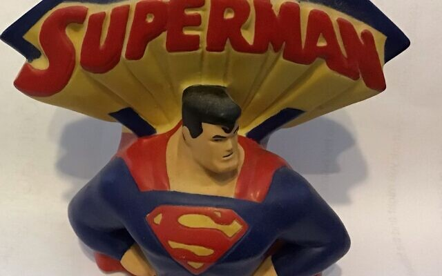 A Superman nightlight from Robkin's collection.