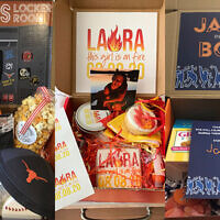 Laura Potts home delivers creative, themed b'nai mitzvah boxes.