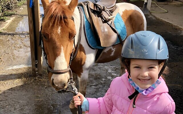 Emma Sundheim takes Sunday riding lessons and learns about the care of horses.