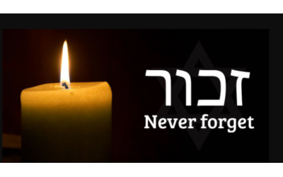 """""""Never Again"""" has become an important reminder on Yom HaShoah, Holocaust Memorial Day."""