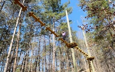 The new ropes course is shown at the MJCCA in Dunwoody.