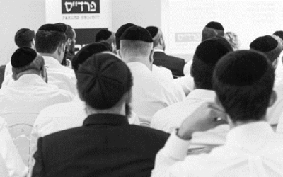 Facebook // Ultra-orthodox men participating in the Pardes Project.