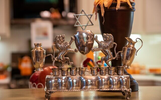 Howard treasures this handmade silver menorah from her Mexican relatives inherited through her grandmother.