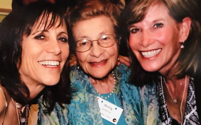 Janet Schatten and Gail Heyman with their beloved mother Betty Goldstein.