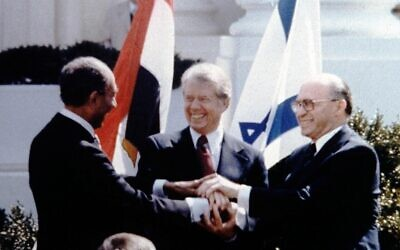"Former President Jimmy Carter called the Camp David Accords ""one of the proudest moments of my presidency."""