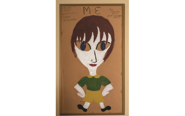 A camp counselor created this tempera portrait of Jackie at 15.