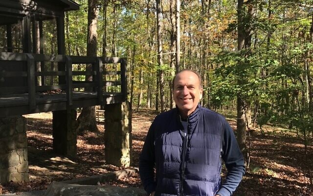 Larry Faskowitz on a weekend visit to a cabin.