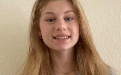 Sabrina Skolnick attended Camp Judaea and won the LOT scholarships to visit Israel.