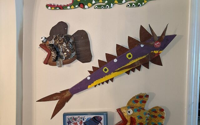 The Fish Wall features the craft of several makers.