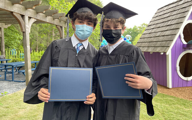 Isaac Brody and Ben Collins Graduate from the Davis Academy.