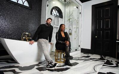 Atlanta Housewife Kandi Burress hired Jordan Hackworth to design her master bath (shown here) and daughter's bathroom.