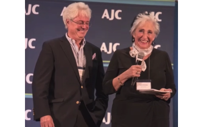 The AJC award was presented by last year's honorees, Melanie and Allan Nelkin.