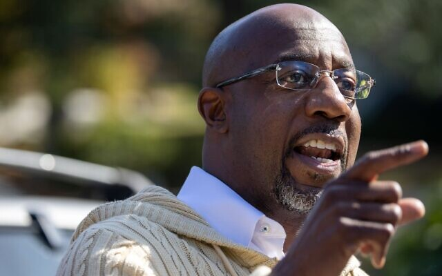 """Raphael Warnock said Israel """"also has an increased duty to prevent the death of Palestinian civilians."""""""