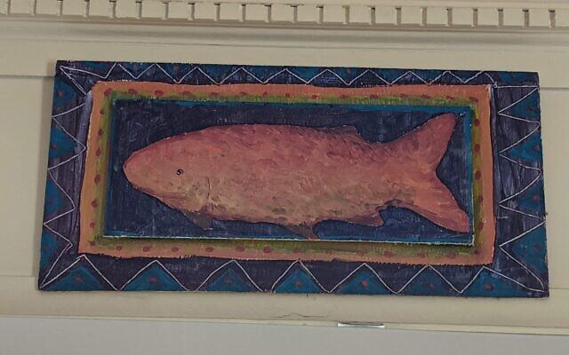 Medium-sized Klein fish painting