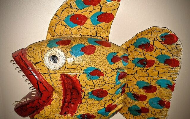 S.D.Meadows' fish are brightly painted and amusing