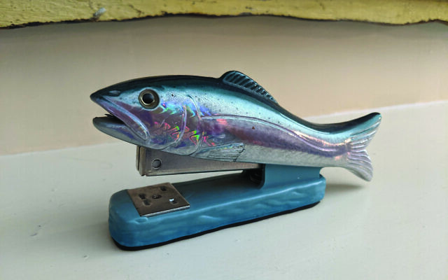 This stapler is a favorite gift from Ayal's sister.