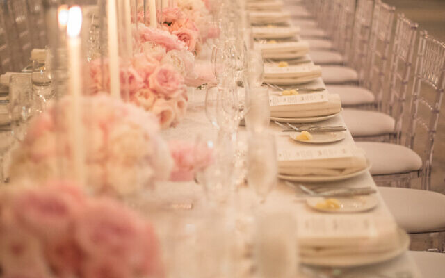 Roos' fairy tale wedding design reception glows. She emphasizes the importance of lighting.