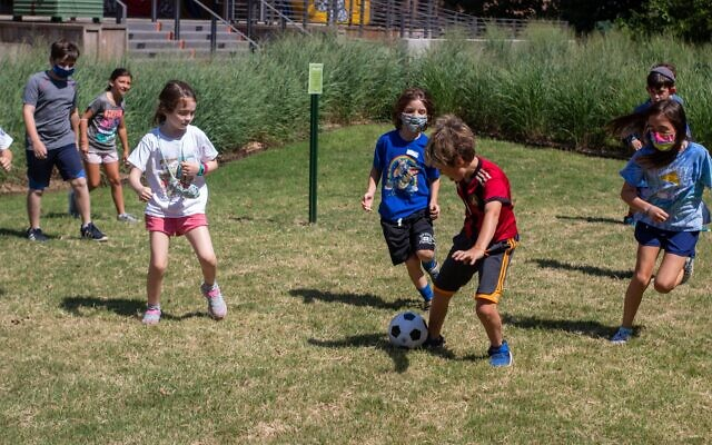 Soccer: Campers participate in sports at In the City Camps on the Atlanta BeltLine.