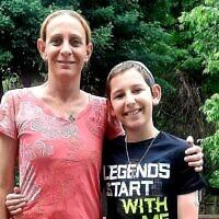 Nataly Fleishman and son Matan, whose blood sugar level is now better than most non-diabetics.