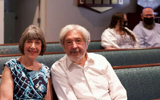 Jackie Horowitz and Barry Diskin were part of the family and friends who were able to be present during the b'nai mitzvah.